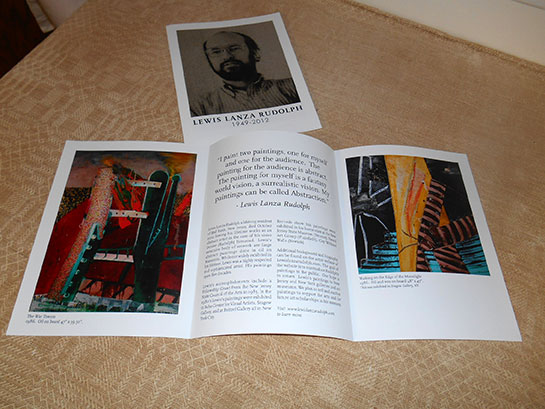 In memory of Lewis: We have a memorial brochure ready for guests who visit the exhibit.
