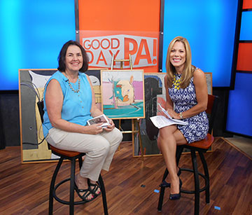 Good Day PA interview photo at the TV Set in Harrisburg